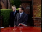 MS David Blunkett MP out of house with guide dog comments to press and along to car Clean Feed Tape = D0598170 OR D0598171 00121300 00140000 FX/Mix...