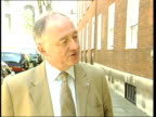Ken Livingstone interview SOT the fatal mistake was not to put a rail transport bill thru parliament in first session so that John Prescott could...