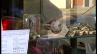 London EXT 'The Last Tuesday Society' shop Window display of spooky items occult artitfacts macabre curios and other esoterica ends