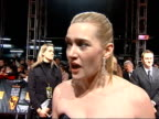 London Kate Winslet interview SOT So disturbing/ feel strongly that have to keep talking about this stuff because not many people are WIPE TO