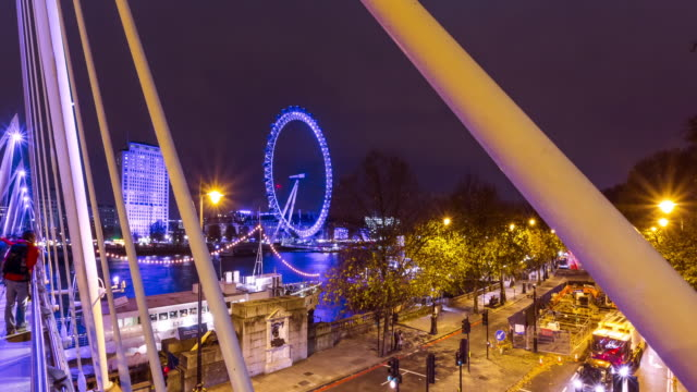 London Eye and road traffic on the Embankment in London.