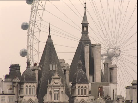 London Eye dominating Whitehall skyline