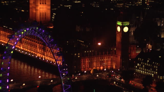 London Eye & House of Parliament Overview at Night