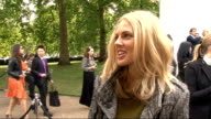 Burberry spring/summer 2012 show interviews general views Donna Air interview SOT On coming to the Burberry show / On getting back into TV Kaya...