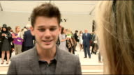 London Fashion Week Burberry Spring / Summer 2013 Show ENGLAND London EXT Jonnie Peacock interview SOT / Jeremy Irvine interview SOT / Anna Wintour...