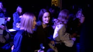 Mulberry Autumn/Winter 2012 show ENGLAND London PHOTOGRAPHY *** Laura Carmichael interview SOT / general views of Lana Del Rey / Michelle Dockery and...
