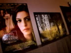 Interviews with Jonathan Demme Anne Hathaway Gwyneth Paltrow ENGLAND London INT General view of 'Rachel Getting Married' film posters in foyer / Alan...