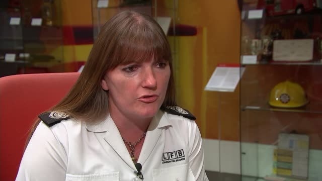 London Fire Bridgade warning on fire risk of faulty electrical goods London INT Commissioner Dany Cotton interview SOT re fire product safety and...