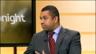 London Fire Brigade proposes station sharing in cost cutting measure ENGLAND London GIR INT James Cleverly LIVE STUDIO Interview SOT Fire engine from...