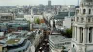 London Fleet Street High Angle View (4K/UHD to HD)