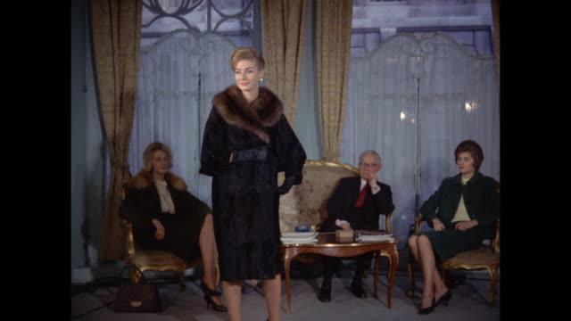 1961 - London - fur coat showroom