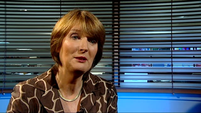 London GIR INT Harriet Harman MP interview SOT