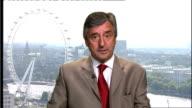 London GIR INT Jim Fitzpatrick MP 2WAY interview SOT