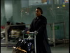 London Heathrow Airport Reverend Al Sharpton along as arriving at airport