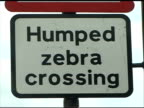 London: Humped Zebra Crossing Sign, Pull