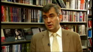London INT Alexander Nekrassov interview SOT saying people faced lengthy prison sentence if found in possession of his books but people knew about...