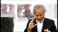 London INT Anish Kapoor interview SOT Describes design for Orbit tower Cecil Balmond interview SOT