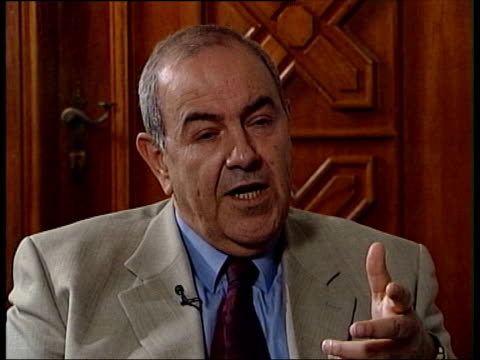 INT Iyad Allawi interview SOT This was a capability of response if any attack would occur on the army of Saddam Hussein TLS John Scarlett along with...