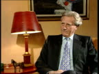London INT Michael Heseltine interviewed SOT Rebuilding East End the inner cities Liverpool the sale of council houses these were big social and...
