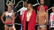 London INT **Music heard SOT** Group photocall for Team GB kit unveiling by athletes including Lizzie Armistead Jodie Williams Alistair Brownlee Max...