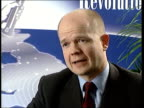 London INT William Hague MP interview SOT Its right to withdraw the whip and refer the case to the ethics integrity cttee/ members of this party must...