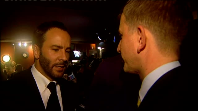 London Leicester Square INT Tom Ford interview SOT