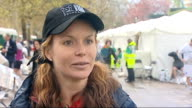 Marathon runners at end of race / Maasai warriors interview Amanda Holden interview SOT Loved doing it and would love to do it again / thanks the...