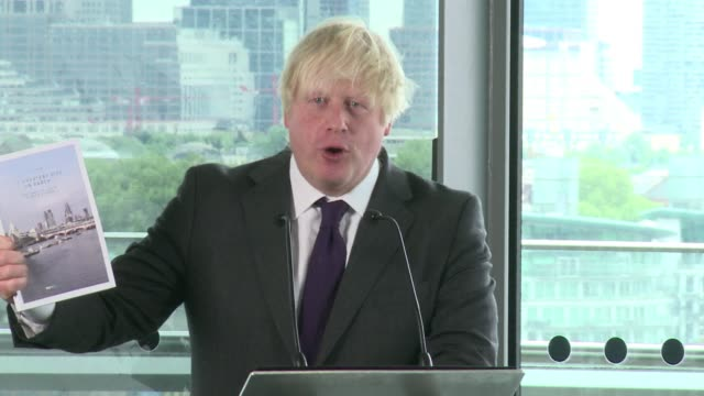 London Mayor Boris Johnson outlined his vision for the future of the British capital keen to use the success of last years Olympic Games to attract...