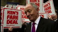 Boris Johnson highlights his achievements / Ken Livingstone defends tax claims and launches his campaign London Bridge Ken Livingstone interview SOT...