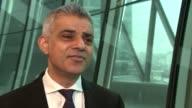 London Mayor Sadiq Khan interview London Mayor Sadiq Khan interview ENGLAND London INT Sadiq Khan interview SOT on antisemitic hate crimes / TFL...