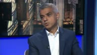 London Mayor Sadiq Khan says he has no confidence in new leader of Kensington and Chelsea council ENGLAND London INT Sadiq Khan interview SOT On his...