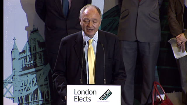 Boris Johnson victory speech Ken Livingstone speech SOT Well Boris let me second your kind words about Anthony and his staff having to separate and...