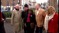 Ken Livingstone photocall ENGLAND London Islington Green EXT Ken Livingstone photocall with Tony Benn Emily Thornberry MP Jeremy Corbyn MP and...
