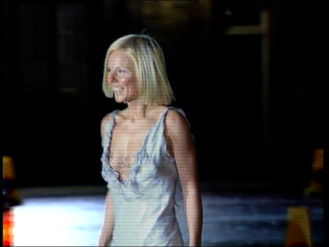 London NIGHT Mick Jagger Jerry Hall arriving for Princes Trust 25th Anniversary party MS Geri Halliwell towards wearing revealing silver dress...