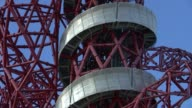 London Olympic Park makes annual financial loss ENGLAND London Stratford Olympic Park EXT General views of ArcelorMittal orbit tower helter skelter...