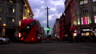 London Oxford Circus And Oxford Street At Night