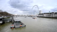 London panorama of Thames River and Embankment
