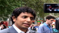 London premiere of film 'Lady in the Water' M Night Shyamalan interview SOT partly it was to do something completely different like a new language...