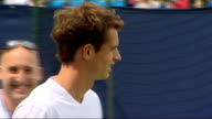 London Queen's Club EXT Andy Murray on court