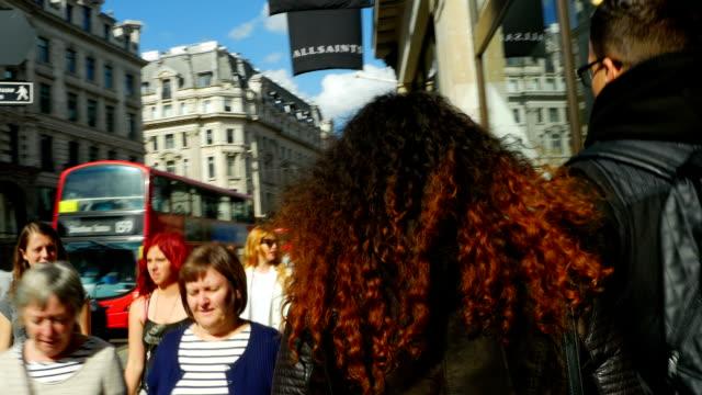 T/L POV London Regent Street Scene (4K/UHD to HD)