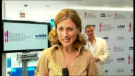 London Restaurant Awards nominees announced ENGLAND London INT Katie Derham piece to camera Michel Roux interview SOT