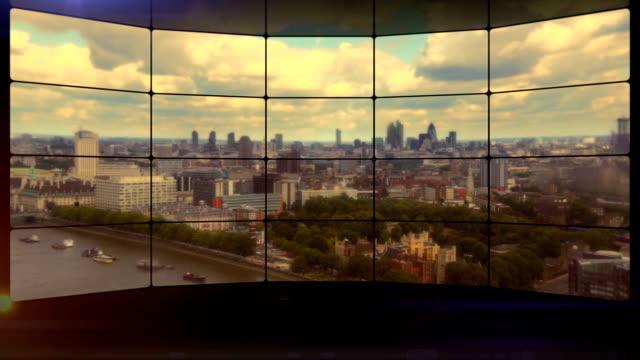 London Skyline Video Wall. HD