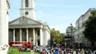 London St. Martin-in-the-Fields And Strand Road (4K/UHD to HD)
