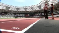 preview ENGLAND London London Stadium EXT Simon Wright interview at sprint finish line SOT