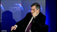 Gordon Brown attends QA session at Lancaster House QA session Baldwin question SOT One of the most amazing things about this crisis is how the...