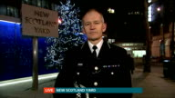 London teenager allegedly leaves to fight the Islamic State in Syria ENGLAND London GIR INT Commander Simon Bray at New Scotland Yard LIVE interview...
