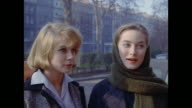 1961 - London - Three women talk on residential street, 18 Cornwall Gardens, Kensington