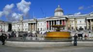 London Trafalgar Square And National Gallery (UHD)