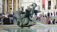 London Trafalgar Square Fountain And National Gallery (UHD)