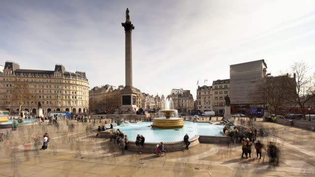 London Trafalgar Square - Timelapse